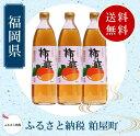 【ふるさと納税】柿酢900ml3本セット
