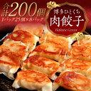 【ふるさと納税】【訳あり】大容量 博多一口肉餃子 2つの味でどーんと200個