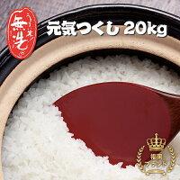 【ふるさと納税】磨き上げた高品質の無洗米!手間いらずの「福岡県産元気つくし」20kg