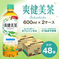 【ふるさと納税】13-09 爽健美茶 600mlPET 2ケース 画像1