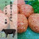 【ふるさと納税】b−186 牛肉100% がばいうまか!佐賀牛ハンバーグ(150g×6個)