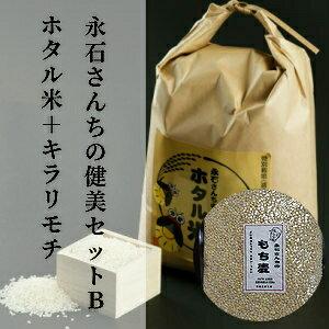 【ふるさと納税】d−46 永石さんちの健美セットB ホタル米+キラリモチ【計6kg×2回】