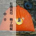 【ふるさと納税】b−184 銀座有名店使用の有機栽培柚子胡椒(ゆずこしょう)【赤】【中辛】1kg