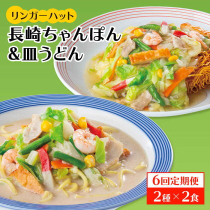 【6回定期便】ちゃんぽん・皿うどんセット4食セット(各2食)【リンガーフーズ】 [FBI015]