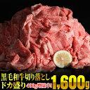 【ふるさと納税】黒毛和牛「切り落とし」 ドカ盛り1600g