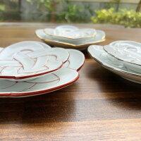 【ふるさと納税】まるふく有田焼田清窯梅むすび皿6枚セット【陶磁器】