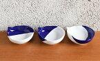 A25-48【ふるさと納税】深川製磁 瑠璃染 ひさご三つ組皿