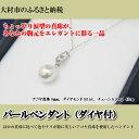 【ふるさと納税】0132.パールペンダント(ダイヤ付)...