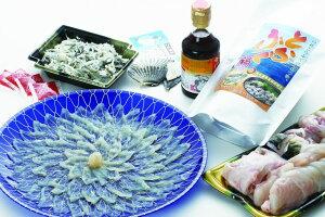 【ふるさと納税】とらふぐ刺身と鍋セット
