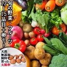 【ふるさと納税】旬の野菜・フルーツセット【太陽卵6個付き】13品目から15品目の豪華セット