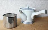 【ふるさと納税】AA02【波佐見焼】【西海陶器】白磁渦急須(ステンレス茶漉し付き)