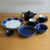 【ふるさと納税】TA05【2人分の食器セット】ホワイト&ブルー/モダンな食器11ピースセット