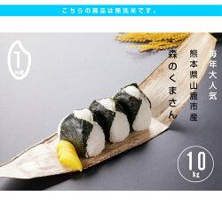 RA-145【ふるさと納税】【無洗米】令和元年産 新米 森のくまさん10kg 画像1
