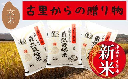 【ふるさと納税】C-57 【有機JAS】高野さんちの自然栽培米C 玄米
