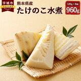 【ふるさと納税】たけのこ水煮 8個 合計960g 筍 たけのこ 竹の子 水煮 袋詰 個包装 下茹で 料理 熊本県産 国産 送料無料