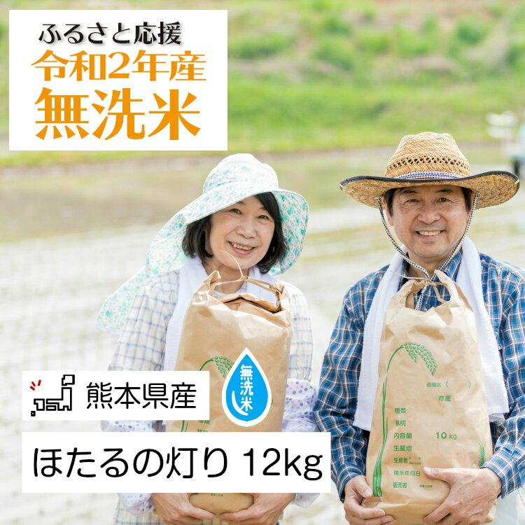 無洗米「ほたるの灯り」12kg 米 ほたるの灯り 大容量 国産 熊本県 和水町
