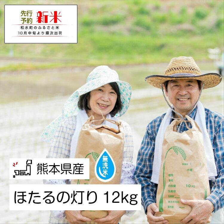 無洗米「ほたるの灯り」 熊本県なごみ町産 12kg