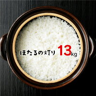 【ふるさと納税】ほたるの灯り 白米 13kg (6.5kg×2袋) 令和2年産 計10kg以上 ほたるのひかり 米 お米 精米 熊本県産 くまもと 国産 送料無料 029-001