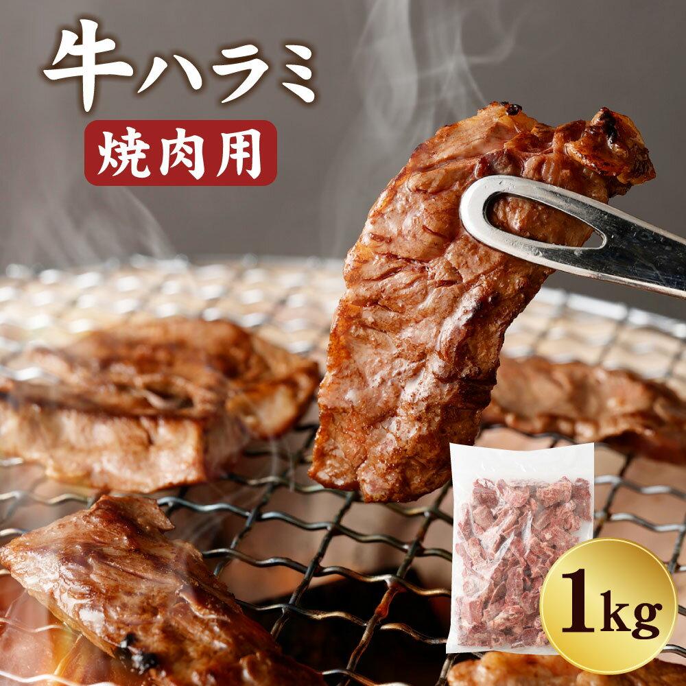 たっぷり1キロ 牛ハラミ 焼肉用 ハラミ 1kg カット 牛 牛肉 肉 お肉 BBQ バーベキュー 焼き肉 冷凍 送料無料