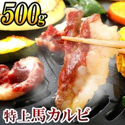 【ふるさと納税】特上馬カルビ 合計500g 100g×5 カルビ 焼肉用 焼き肉 刺身用 馬刺し 馬 馬肉 肉 お肉 刺身 国産 冷凍 送料無料