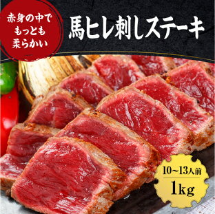 【ふるさと納税】熊本 馬刺し「ヒレ馬刺し 馬肉ステーキ」1キロ (100g×10パック)の画像