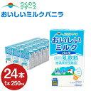 【ふるさと納税】おいしいミルクバニラ 24本 250ml×24本 1ケース ミルク バニラ バニラ風味 牛乳86%使...