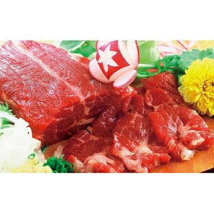 【ふるさと納税】馬刺し赤身セット(6〜7人前)専用醤油付き 【お肉・馬肉・さくら肉・詰め合わせ】の画像