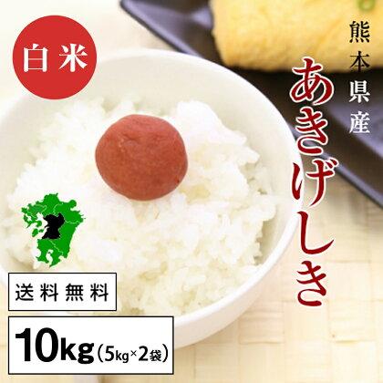 熊本県産 あきげしき 白米10kg
