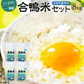 【ふるさと納税】氷温冷蔵熟成「合鴨米」セット8kgコシヒカリ4kgヒノヒカリ4kg