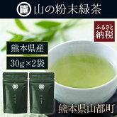 【ふるさと納税】熊本県産庵山の粉末緑茶×2