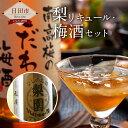 【ふるさと納税】梨リキュール・梅酒セット(梨園500ml、南...