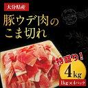 【ふるさと納税】大分県産豚ウデ肉のこま切れ4kg...