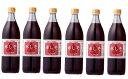 【ふるさと納税】大分県産無農薬栽培 赤しそジュース加糖(2〜5倍希釈)6本入