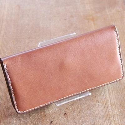 【ふるさと納税】手作りレザーの長財布(ブラウン) YS02【1088778】