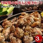 【ふるさと納税】宮崎名物宮崎鶏の炭火もも焼きセット450g(150g×3パック入り)
