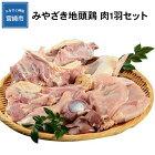 【ふるさと納税】みやざき地頭鶏肉1羽セット