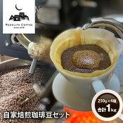 【RegolithCoffee】自家焙煎珈琲豆セット250g×4種類合計1kg(C703)