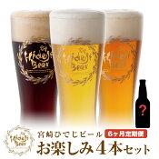 【ふるさと納税】【6ヶ月定期便】宮崎ひでじビールお楽しみ4本セット