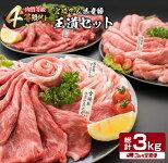 【ふるさと納税】定期便《お楽しみ》宮崎牛&県産豚★王道セット(総計3kg)