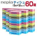 【ふるさと納税】ネピアティッシュ計60箱(5箱×12セット)