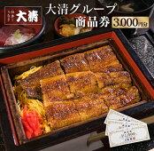 【ふるさと納税】大清グループ食事券(3,000円分)