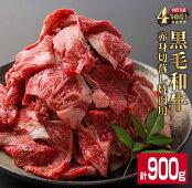 【ふるさと納税】宮崎県産黒毛和牛赤身切落し焼肉用(計900g)