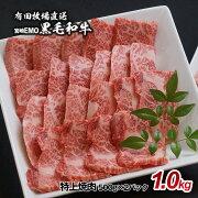【ふるさと納税】宮崎EMO黒毛和牛特上焼肉(1kg)
