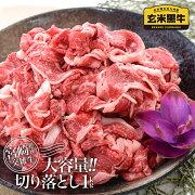 【ふるさと納税】宮崎県産『玄米黒牛』切落し【1kg】250g×4P〈1-183〉