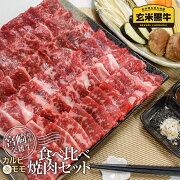 【ふるさと納税】宮崎県産『玄米黒牛』食べ比べ焼肉セット【1kg】(200g×5P)〈1.5-144〉