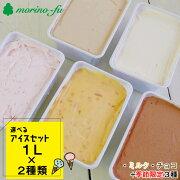 【ふるさと納税】『morino-fu』選べるアイスセット(1L×2個)【アイスクリーム】