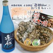 【ふるさと納税】西都産焼酎正春酒造「逢初blue」とおつまみセット