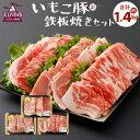 【ふるさと納税】いもこ豚(彩) 鉄板焼きセット 合計1.4k...