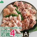 【ふるさと納税】宮崎県産若鶏4kgセットA 鶏肉 モモ肉 ム