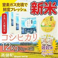 平成29年産「宮崎県産コシヒカリ(無洗米)」2kg×6袋